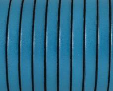 5 mm bőr karkötő alap türkizkék-fekete 20 cm