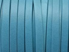 5 mm bőr karkötő alap türkizkék 20 cm