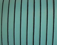 5 mm bőr karkötő alap türkizzöld-fekete 20 cm