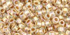 Toho 8/0 arany közepű irizáló kristály 10 g (994)