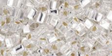 Toho triangle 8/0 ezüst közepű kristály 10 gr