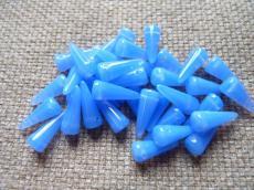 tüskegyöngy opál zafírkék 10 db