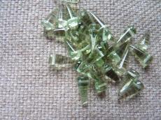 tüskegyöngy smoked peridot 10 db