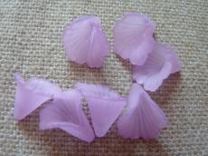 akril virág matt lila/k 10 db