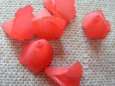 akril virág matt piros/n 10 db