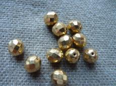 csiszolt gyöngy 10 mm metál arany 5 db