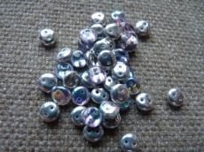 kétlyukú lencse crystal silver rainbow 20 db