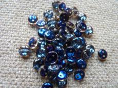 kétlyukú lencse kristály-azuro 20 db