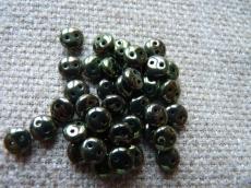 kétlyukú lencse metál sötét oliva 20 db