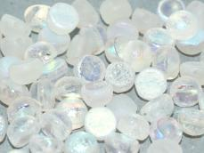 crystal full echted AB kétlyukú cabochon 6 mm 10 db