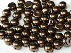 bronze kétlyukú cabochon 6 mm 10 db