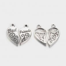 best firends (legjobb barátok) szív két darabos medál