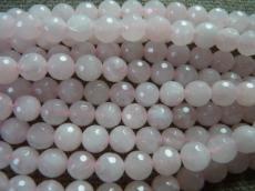 fazettált rózsakvarc 12 mm