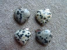 dalmata jáspis szív medál