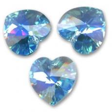 10 mm szív függő aquamarine AB Xilion