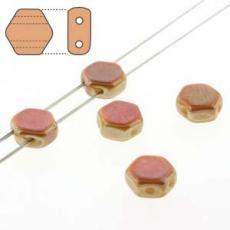 honeycomb gyöngy: telt fehér apricot 30 db