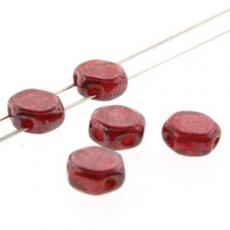 honeycomb gyöngy: lüszteres áttetsző piros 30 db