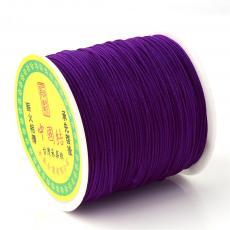 0,8 mm selyemzsinór lila tekercs