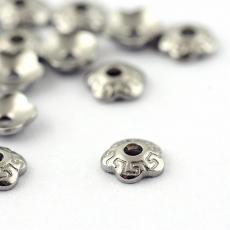 gyöngykupak: rozsdamentes acél pici mintás virág 20 db