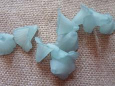 akril virág matt kékeszöld/n 10 db