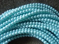 3 mm kerek gyöngy gyöngyház világoskék 50 db