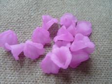 akril virág matt lila/2 10 db