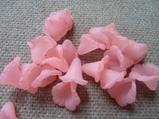 akril virág matt rózsaszín 10 db