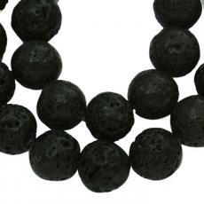 fekete lávakő 6 mm szál