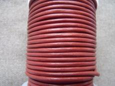 3 mm bőrszál bordósbarna 5 cm
