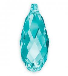 6010 briolette függő light turquoise 11 mm