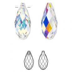 6010 briolette függő crystal AB 13 mm