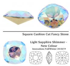 sw square light sapphire shimmer 12 mm