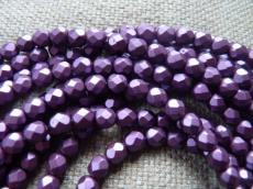 csiszolt gyöngy 6mm matt gyöngyház lila 25 db