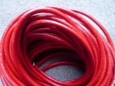 3 mm bőrszál piros 5 cm