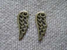 antik réz filigrán fityegő vagy medál szárny