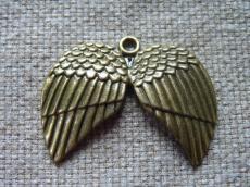 antik réz fityegő vagy medál dupla szárny