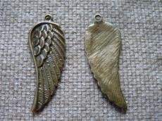 antik réz fityegő vagy medál nagy szárny/4