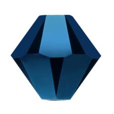 sw bicone 6 mm: metallic blue 2X