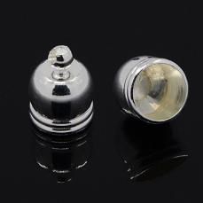 bőr végzáró 6 mm 4 db ezüst