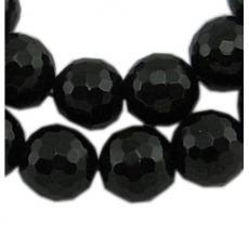 fazettált fekete achát 8 mm szál