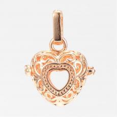 Angyalhívó medál szív alakú kicsi arany színű
