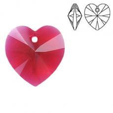10 mm szív függő scarlet