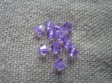 6 mm lila kúpos akril gyöngy 20 db