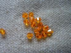 6 mm narancs kúpos akril gyöngy 20 db