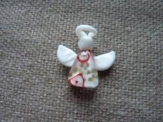 angyalka lámpagyöngy medál fehér