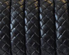 10x5,5 mm fonott bőr karkötő alap fekete 1 cm