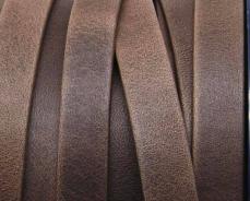10 mm bőr karkötő alap matt sötétbarna 1 cm