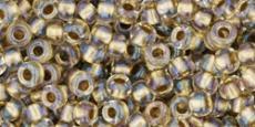 Toho 8/0 arany közepű irizáló kristály 10 g