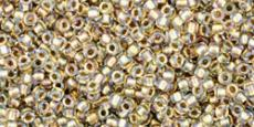 Toho 15/0 arany közepű irizáló kristály 5 g (262)