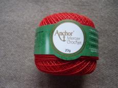Anchor horgolócérna 40-es piros 20 gr